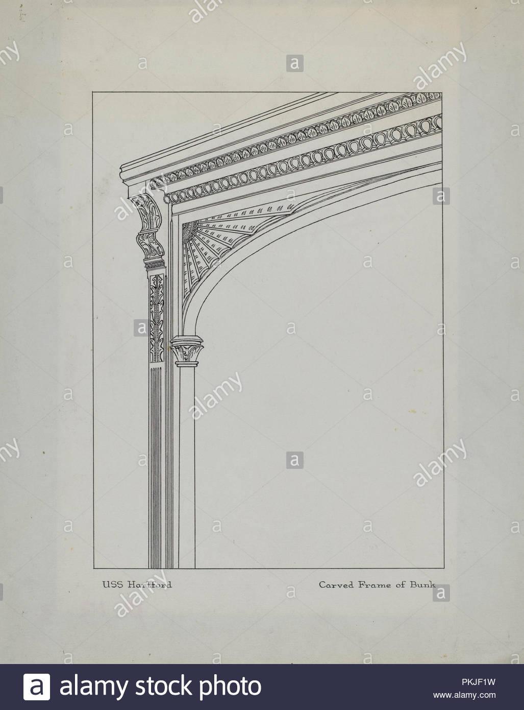 Cadre Sculpté De Lits Superposés En Date Du Ch 1939 Dimensions