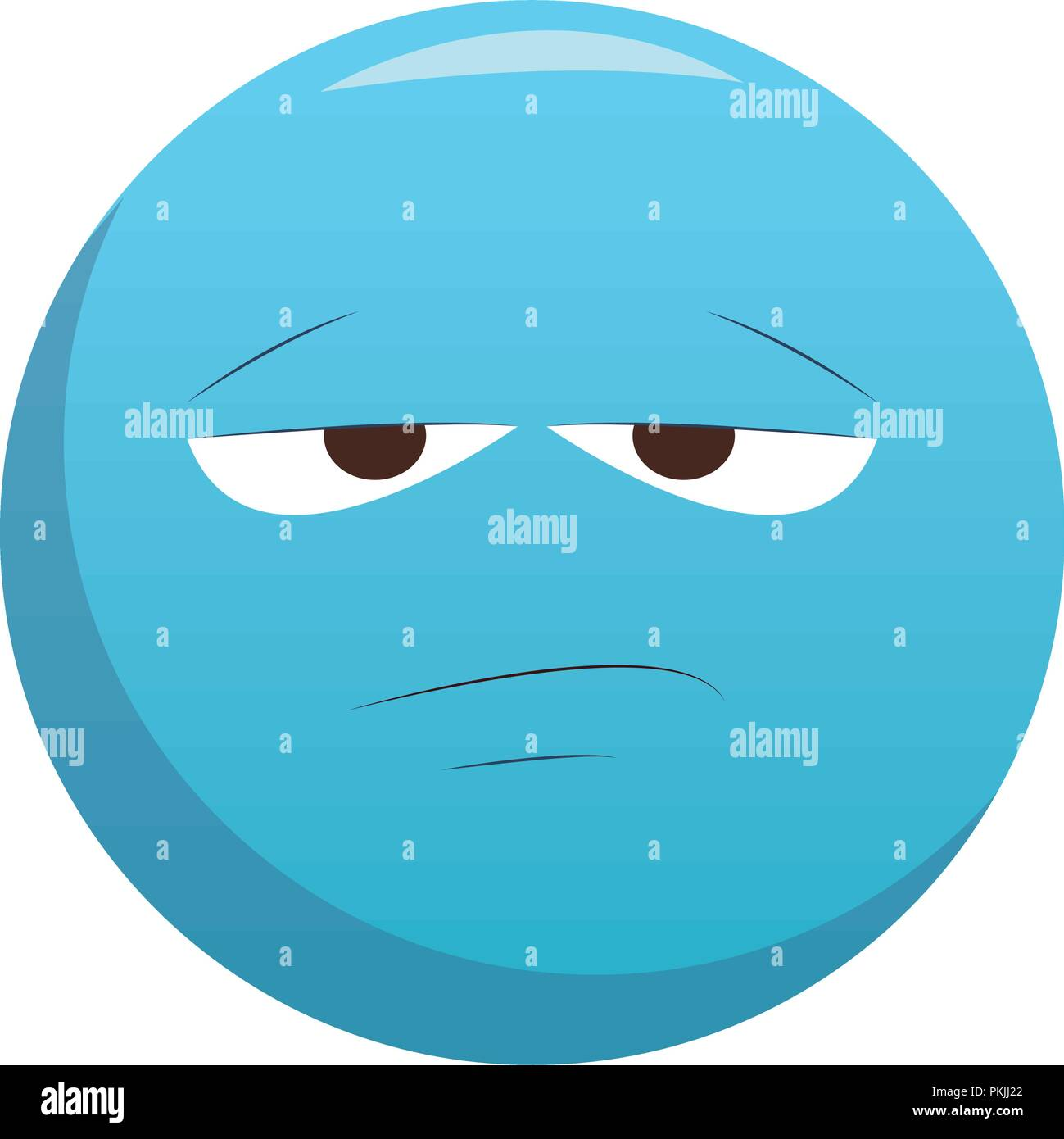 Emoticone Chat S Ennuie Image Vectorielle Stock Alamy