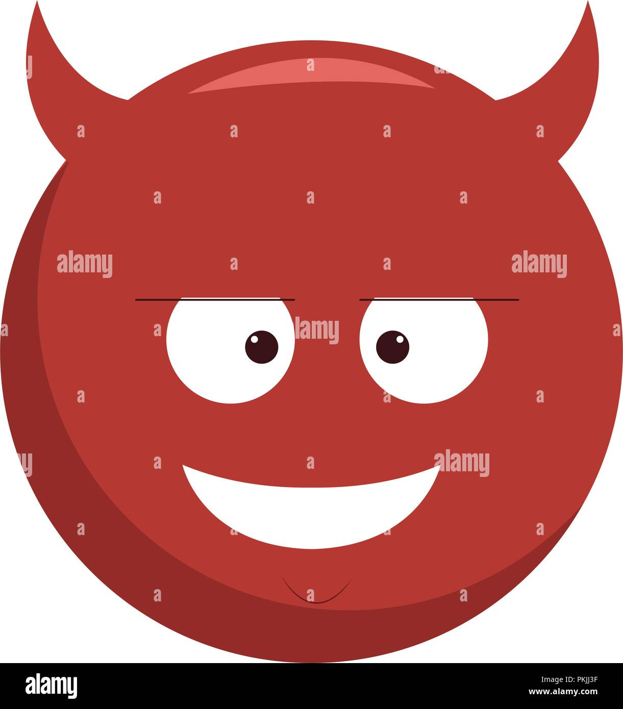 Emoticone Chat Diable Image Vectorielle Stock Alamy
