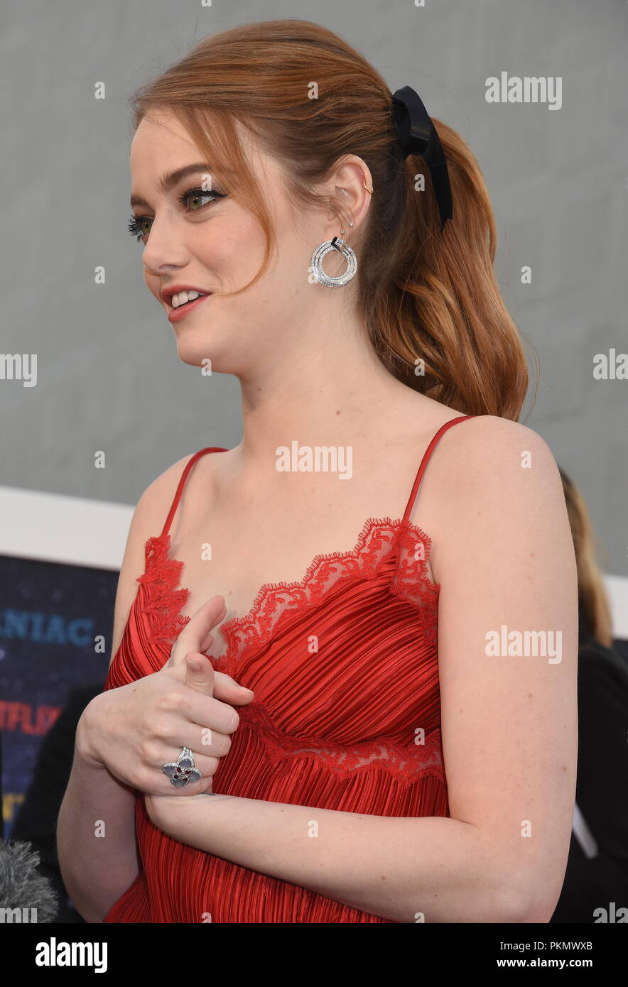 Londres, Royaume-Uni. 13 septembre 2018. Emma Stone,'Maniac' Premiere TV Netflix,Queen Elizabeth Hall,Southbank,London.UK Crédit : michael melia/Alamy Live News Photo Stock