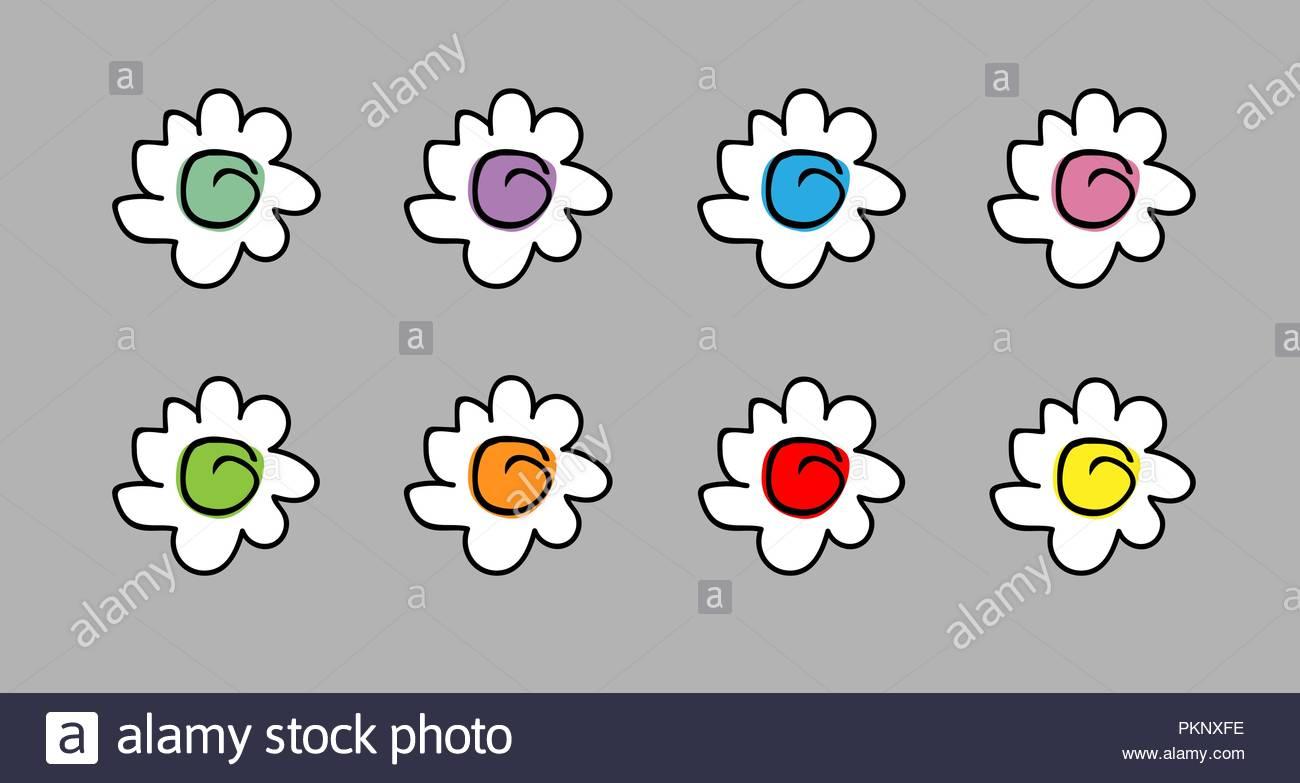 Dessin Fleur Facile Couleur