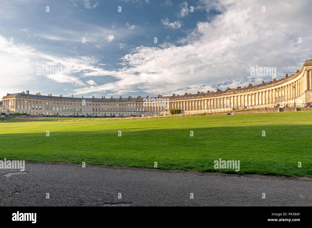 Le Royal Crescent de Bath Photo Stock