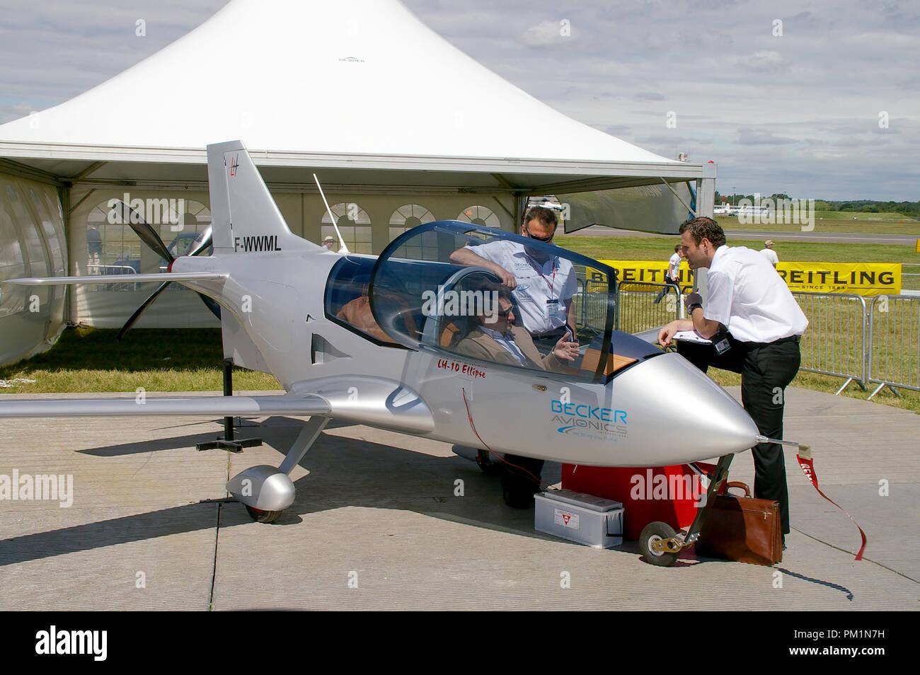 LH Aviation LH-10 Ellipse light aircraft avion à Farnborough International Airshow. Les ventes. De l'aérospatiale. Petite kitplane projet de fabrication artisanale Photo Stock