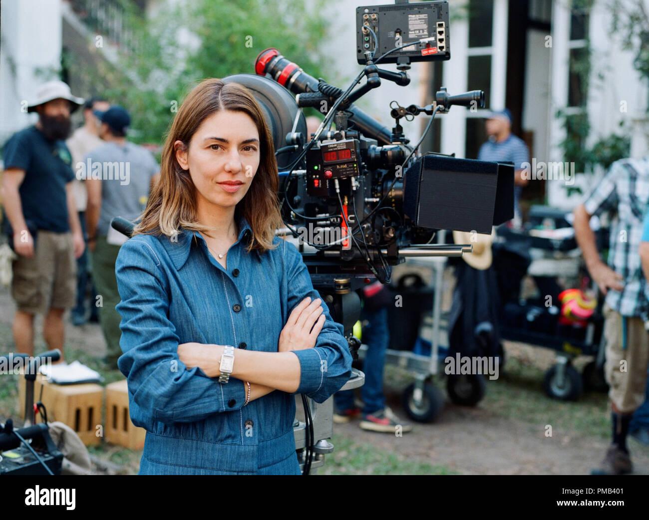Le scénariste et réalisateur Sofia Coppola sur l'ensemble de l'atmosphère de Focus Features thriller le séduisit. (2017) Photo Stock