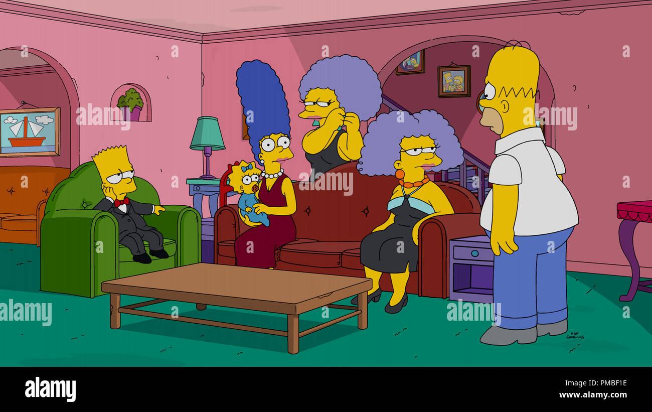 Bart simpson maggie simpson marge simpson patty bouvier selma bouvier homer simpson 39 les - Marge simpson et bart ...