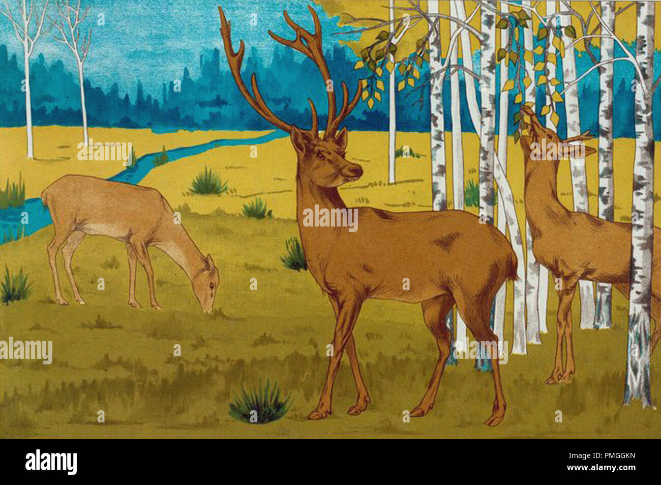 Illustration des cerfs Photo Stock