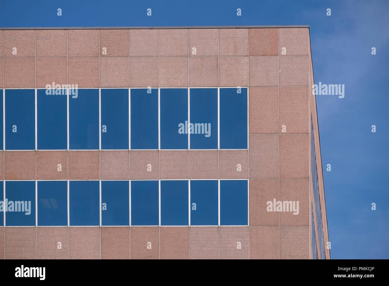 Détail dans l'architecture de bureaux, d'Alabama à Birmingham Photo Stock