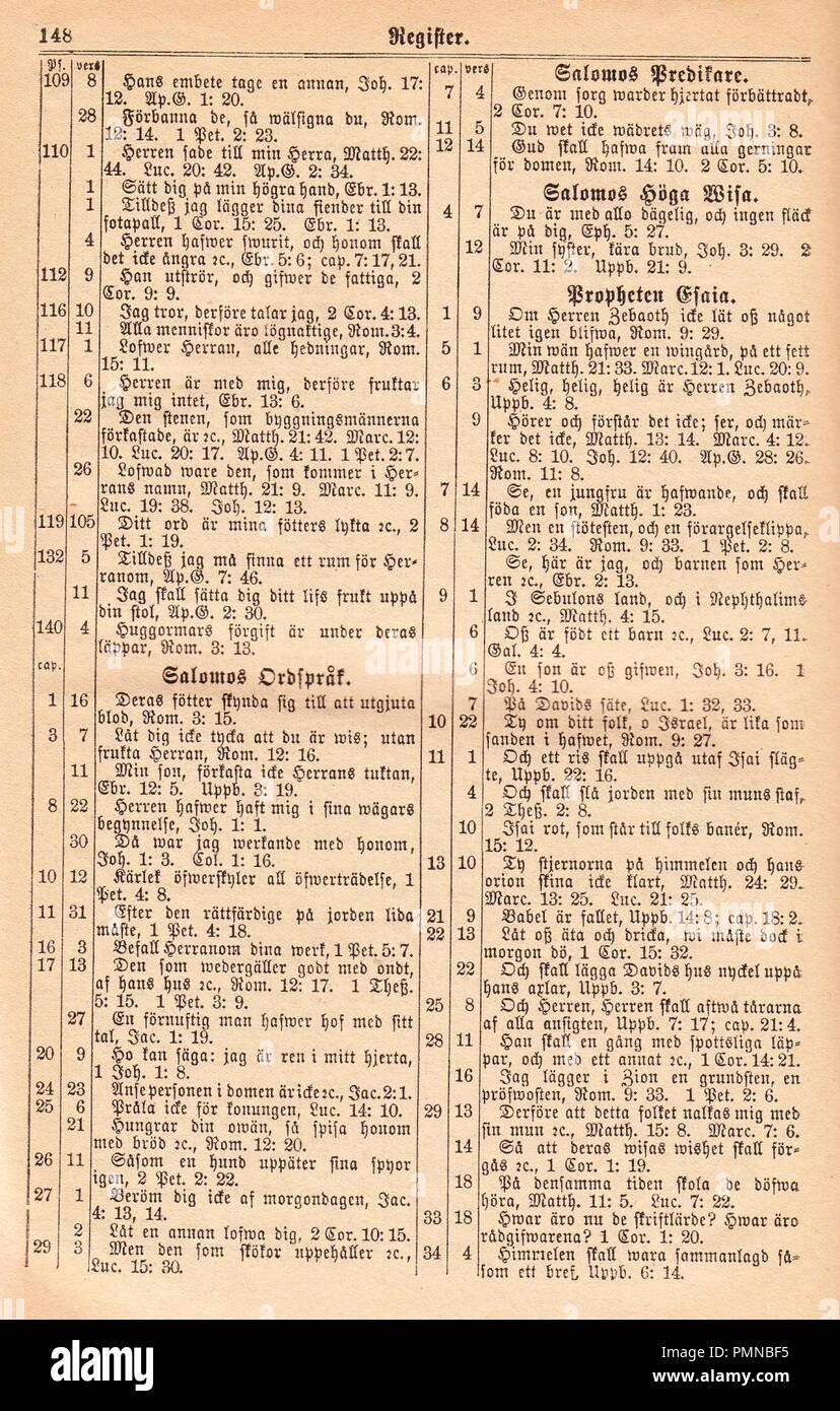 Biblia Fjellstedt J (1890) 966. Photo Stock