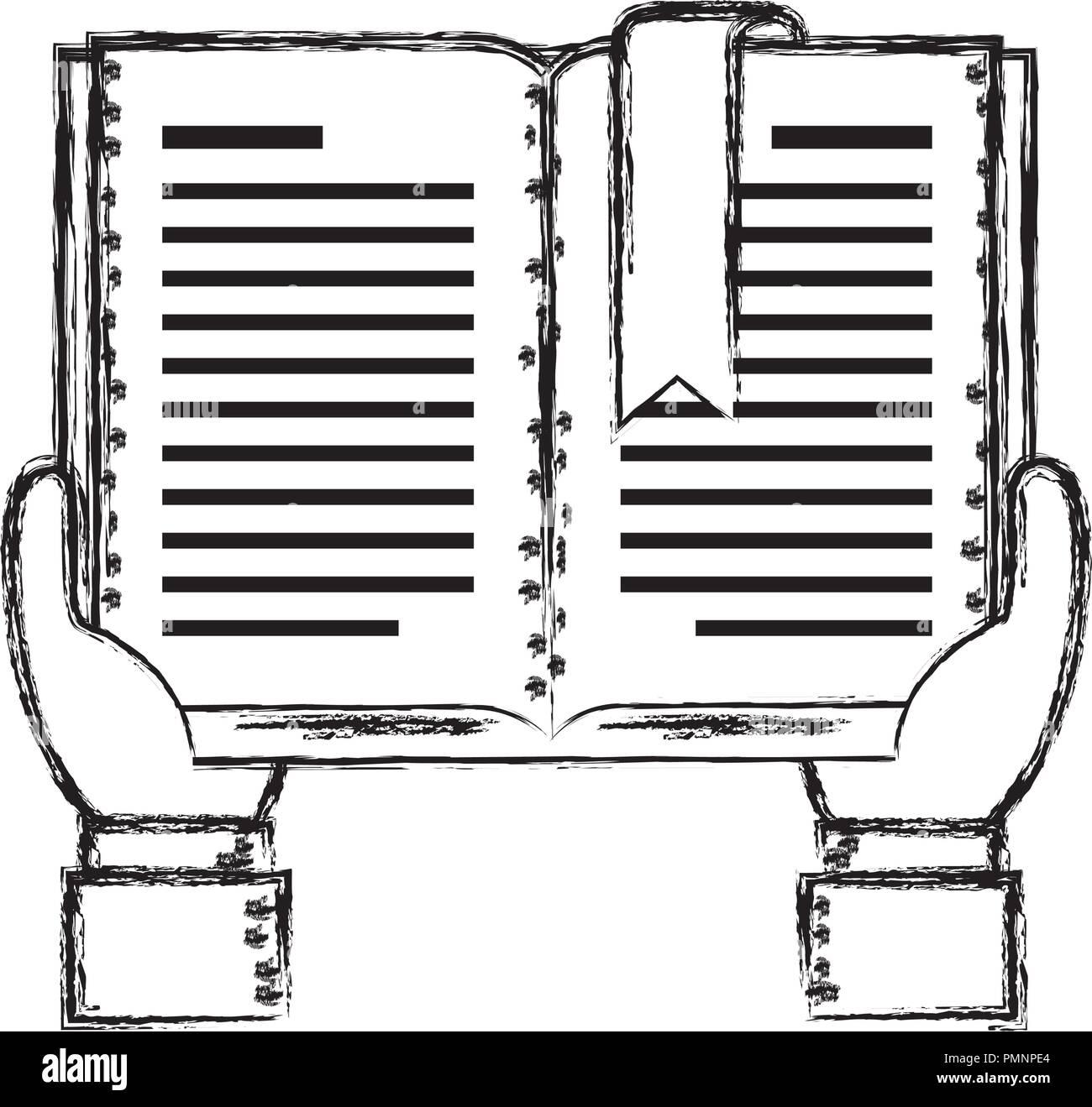 Mains Avec Du Texte Livre Vector Illustration Design