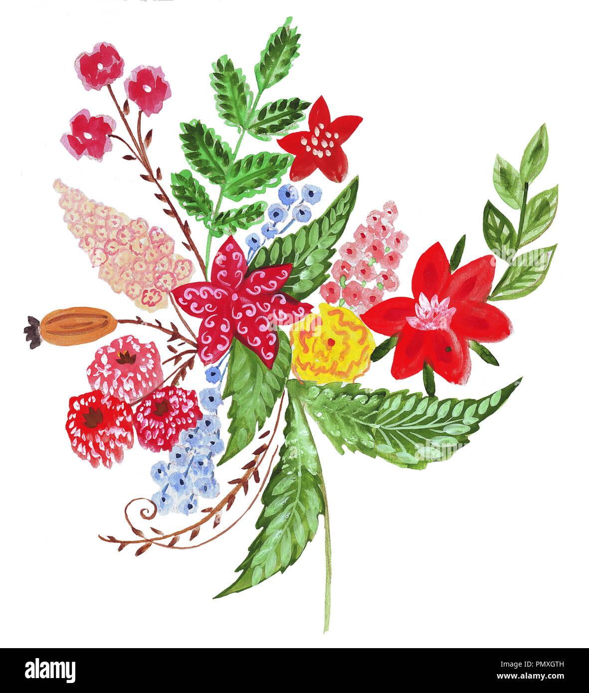 Dessin Bouquet De Fleurs Couleur