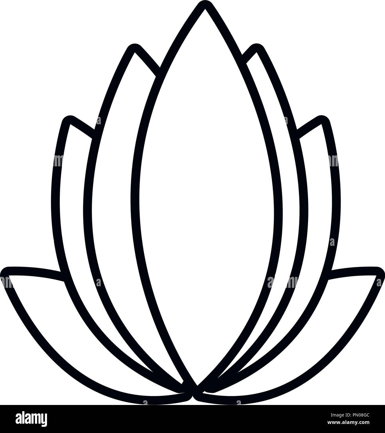 Belle Fleur De Lotus Decoration Ornement Vector Illustration Ligne