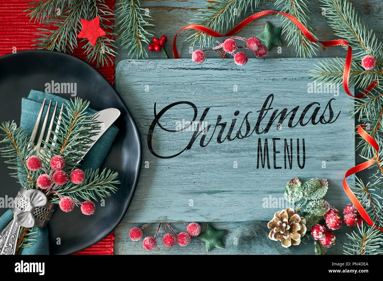 Decoration De Menu De Noel.Menu De Noel Photos Menu De Noel Images Alamy