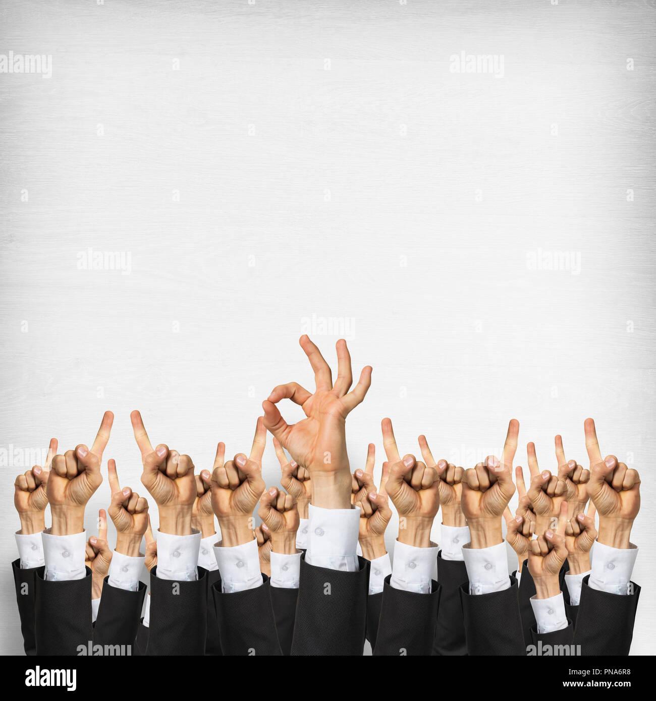 Le travail d'équipe et d'entreprise concept Photo Stock