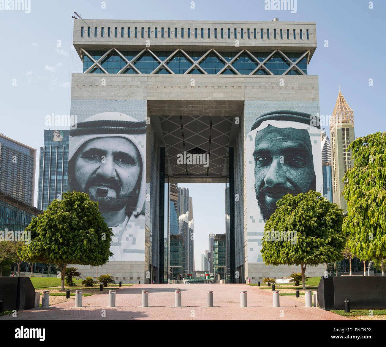 Le DIFC (Centre Financier International de Dubaï) une zone économique spéciale à DUBAÏ, ÉMIRATS ARABES UNIS, Émirats arabes unis. Photo Stock