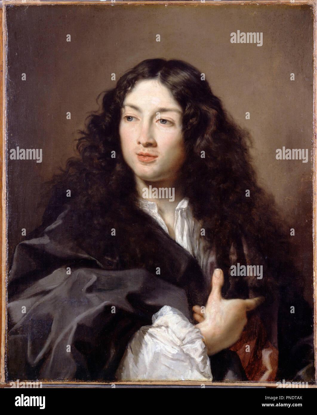 Un homme, appelé Michel Baron. Date/Période: Ca. Années 1670. La peinture. Peinture à l'huile. Largeur: 604 cm. Hauteur: 737 cm. Auteur: CLAUDE LEFEBVRE. Banque D'Images