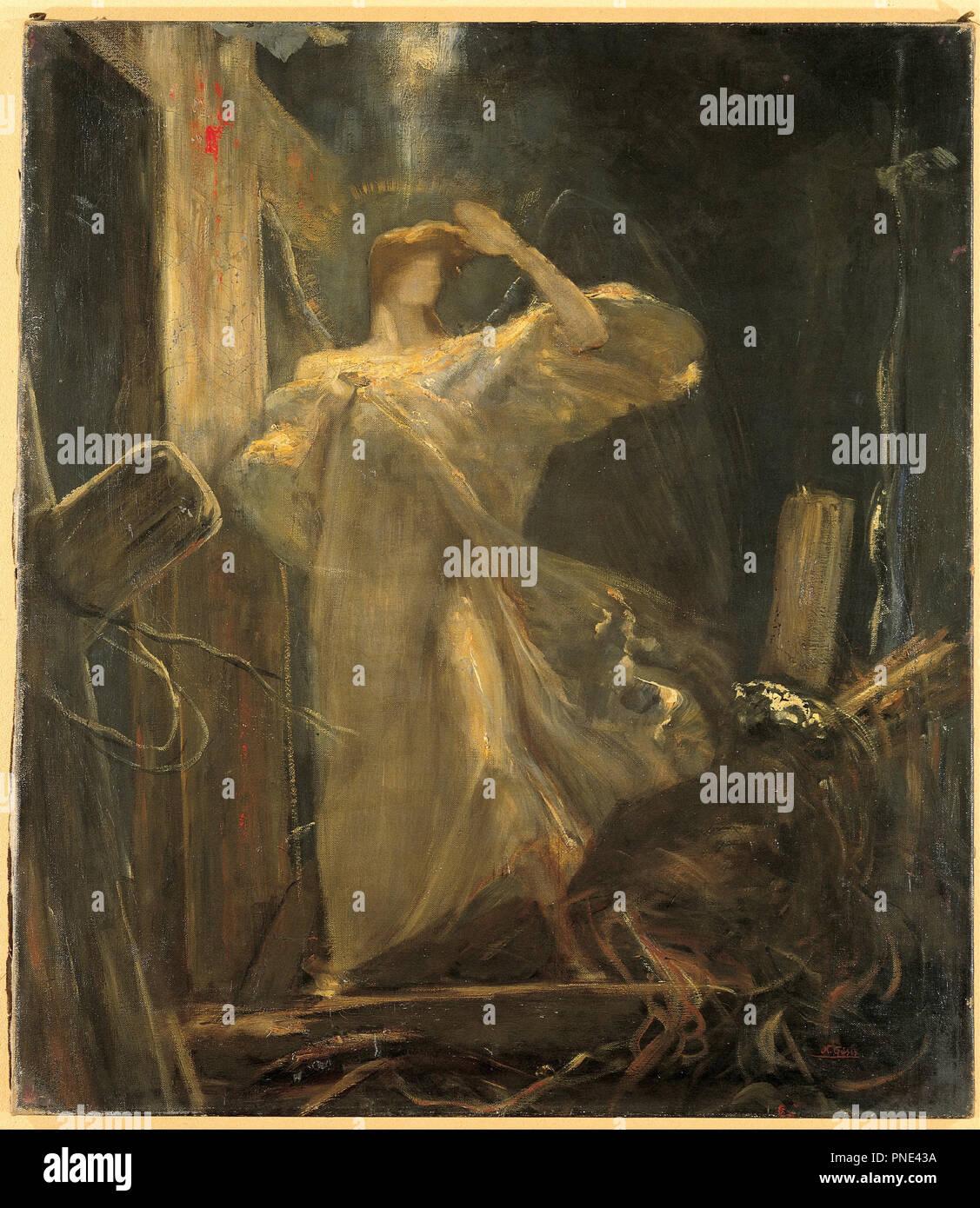 Archange, étude pour le fondement de la Foi. Date/période: 1894 - 1895. La peinture. Hauteur: 800 mm (31.49 in); Largeur: 690 mm (27.16 in). Auteur: Nikolaos Gyzis. Banque D'Images