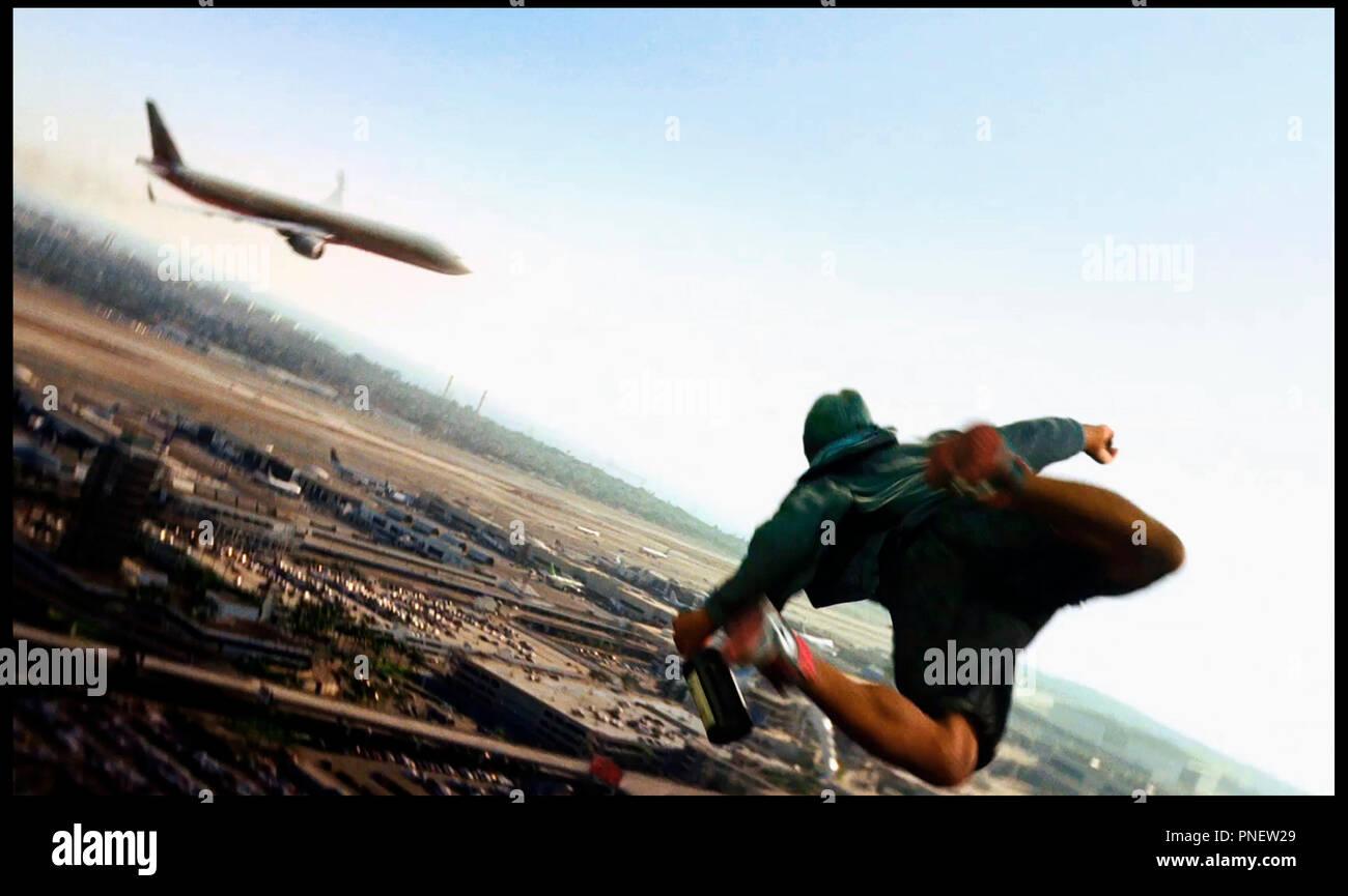 PROD DB © Overbrook Entertainment/médias relativité / DR HANCOCK de Peter Berg 2008 États-Unis Will Smith super héros-pouvoir-voler-avion-ciel Photo Stock