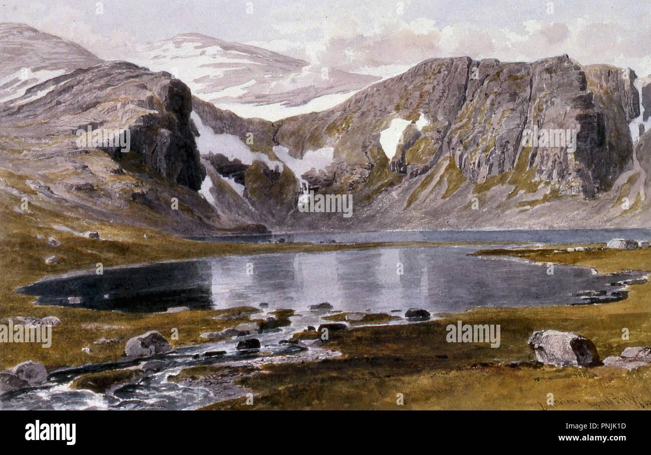 Fripp George Arthur - Loch 1 Etchachan Photo Stock