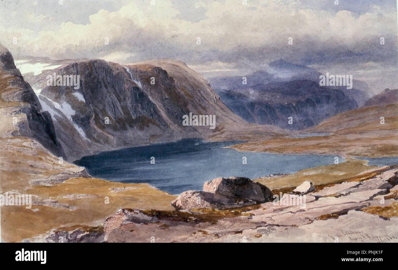 Fripp George Arthur - Loch 2 Etchachan Photo Stock
