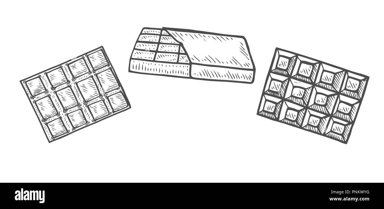 Ensemble De La Main à La Main Chocolat Tablette De Chocolat