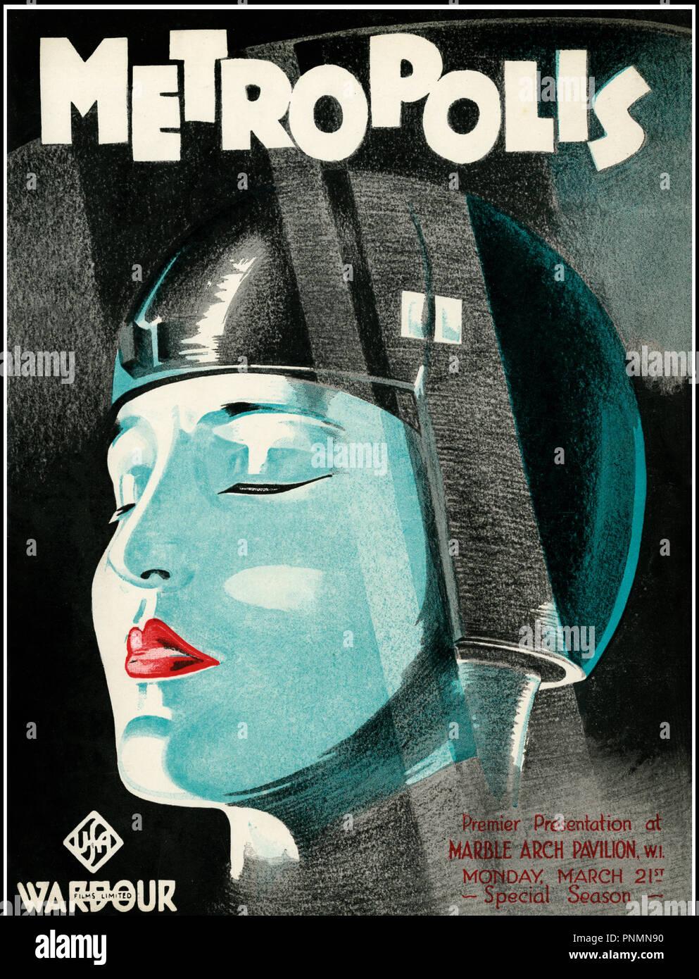 Prod DB © UFA / DR METROPOLIS de Fritz Lang 1926 TOUTES LES couverture de la plaquette publicitaire originale britanique classique, la science-fiction, futuriste, l'anticipation d'après le roman de Thea von Harbou Photo Stock