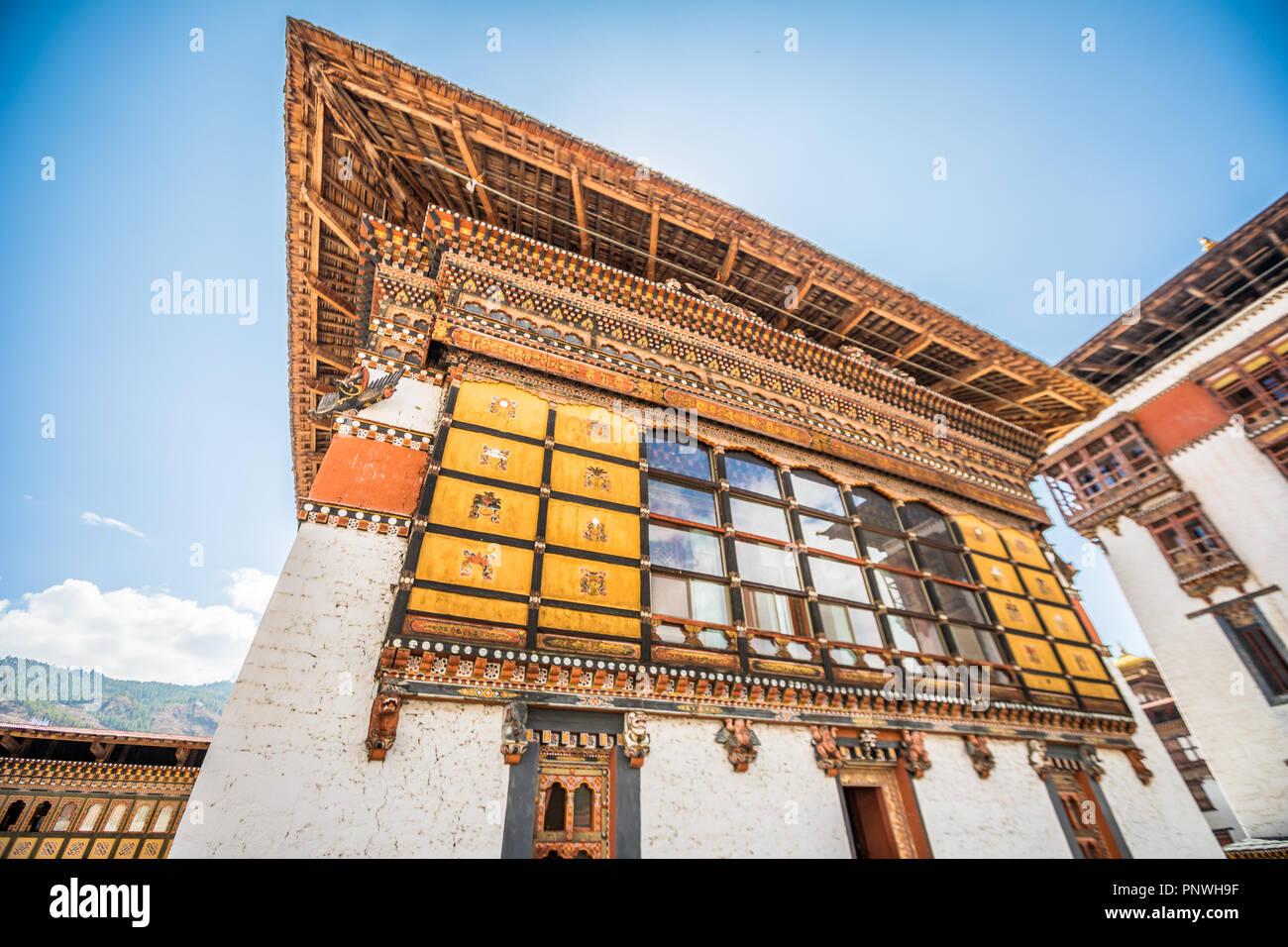 Avis de Thimphu Dzong Photo Stock