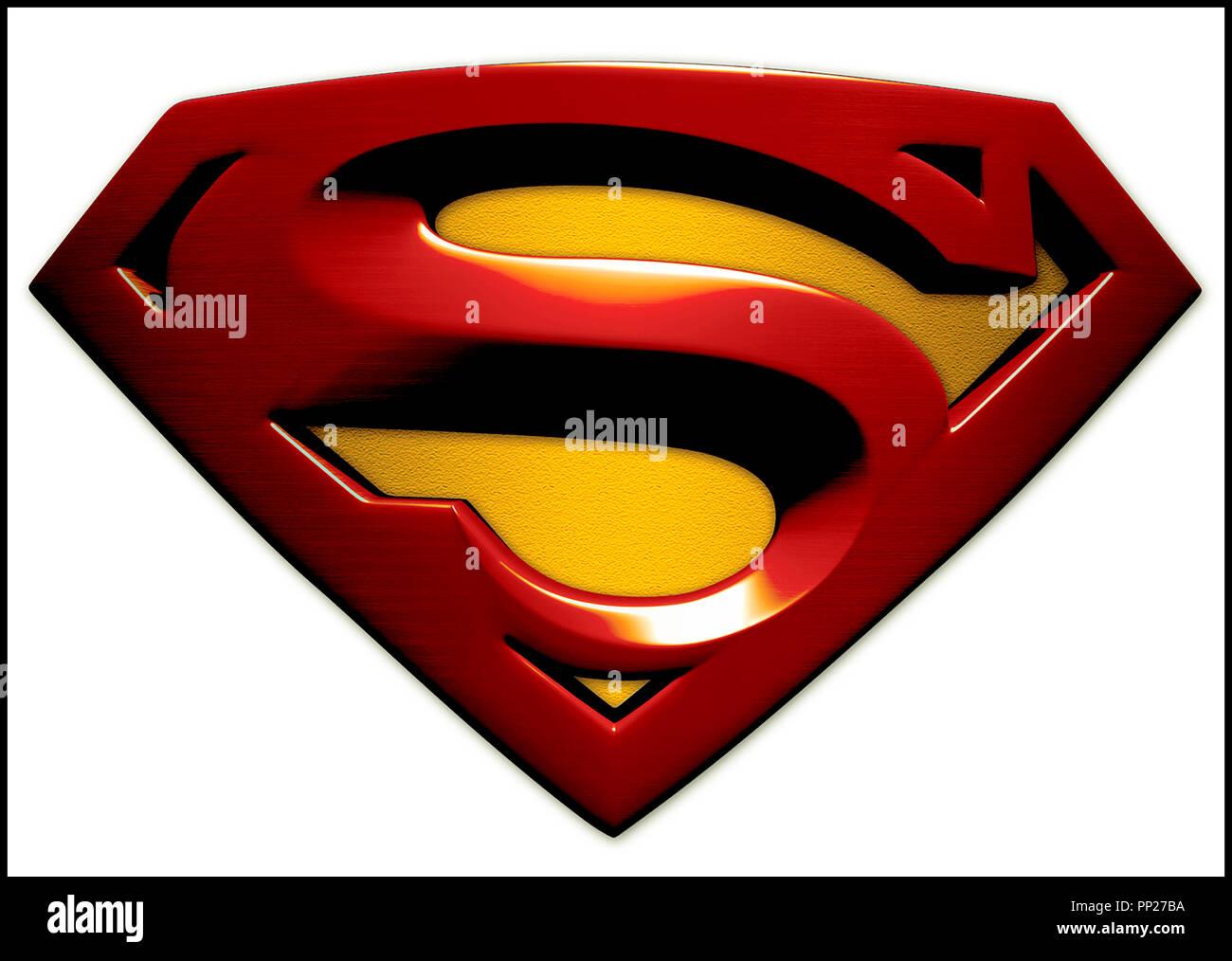 Superman logo photos superman logo images page 2 alamy - Signe de superman ...