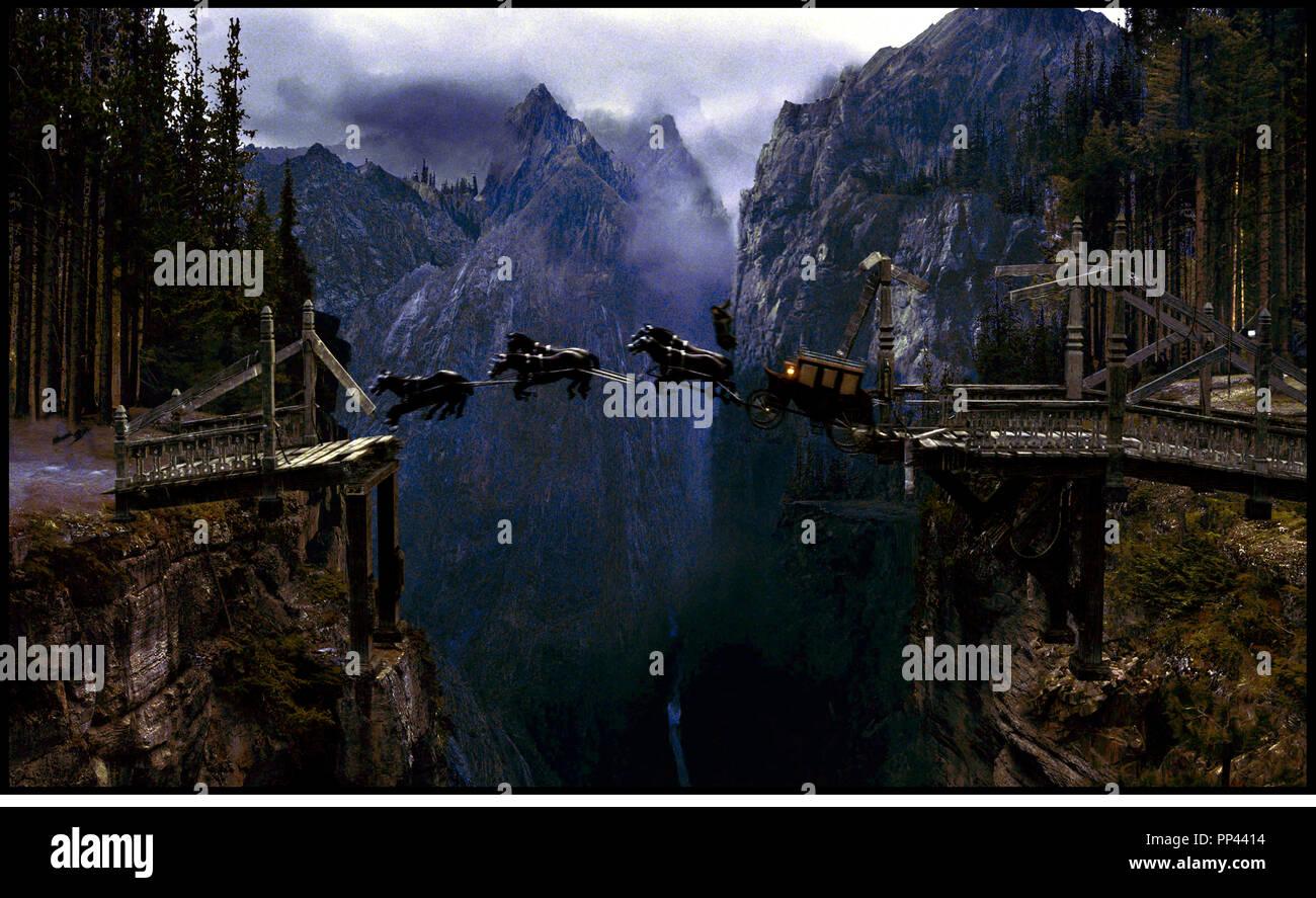 Prod DB © Universal Pictures / DR VAN HELSING (VAN HELSING) de Stephen Sommers 2004 USA XIXeme siecle, fantastique, chevaux, voler, magie, diligence Photo Stock
