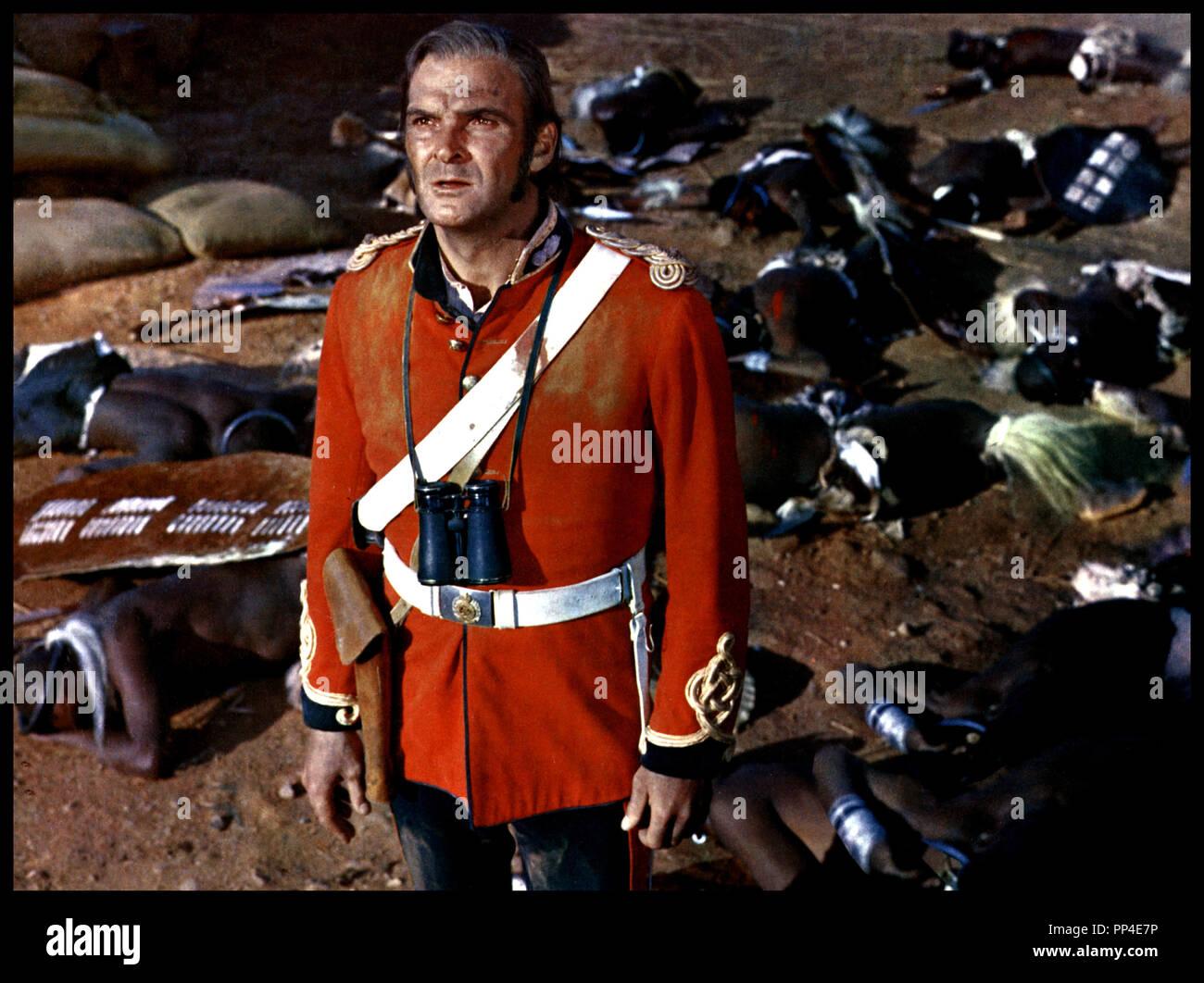 Prod DB © Diamond Films / DR ZOULOU (ZULU) de Cy Endfield avec Stanley Baker 1964 Go direction militaire anglais, britanique, bataille, afrique, guerre, champ de bataille Photo Stock