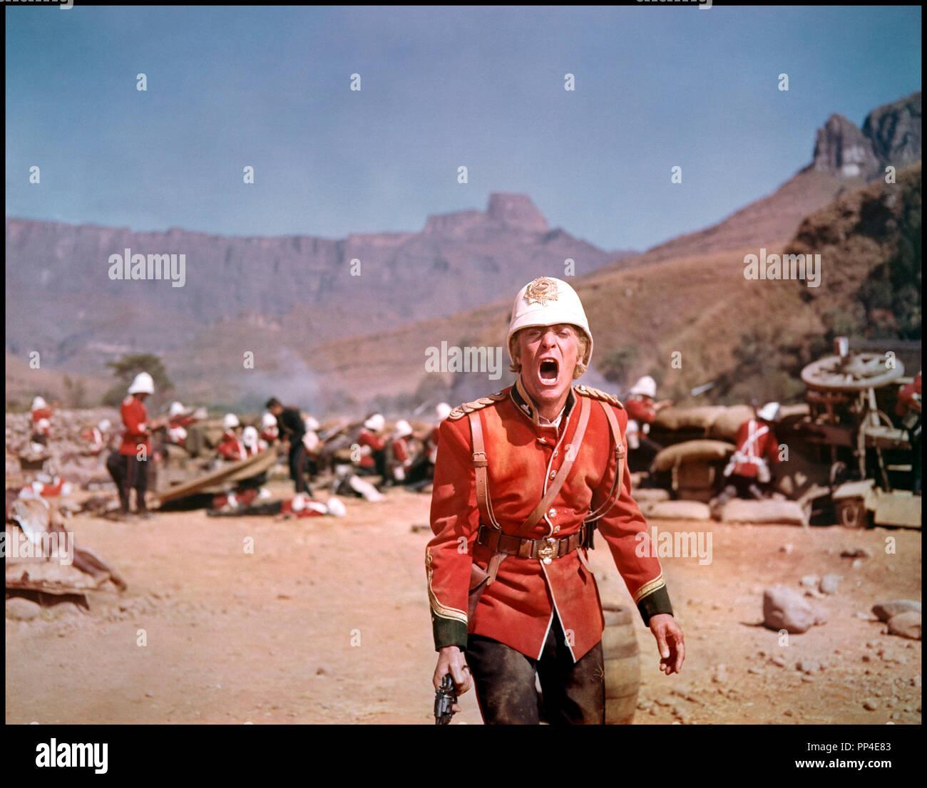Prod DB © Diamond Films / DR ZOULOU (ZULU) de Cy Endfield 1964 Go avec Michael Caine, officier militaire anglais britanique, bataille, afrique, guerre, champ de bataille, crier, hurler Photo Stock