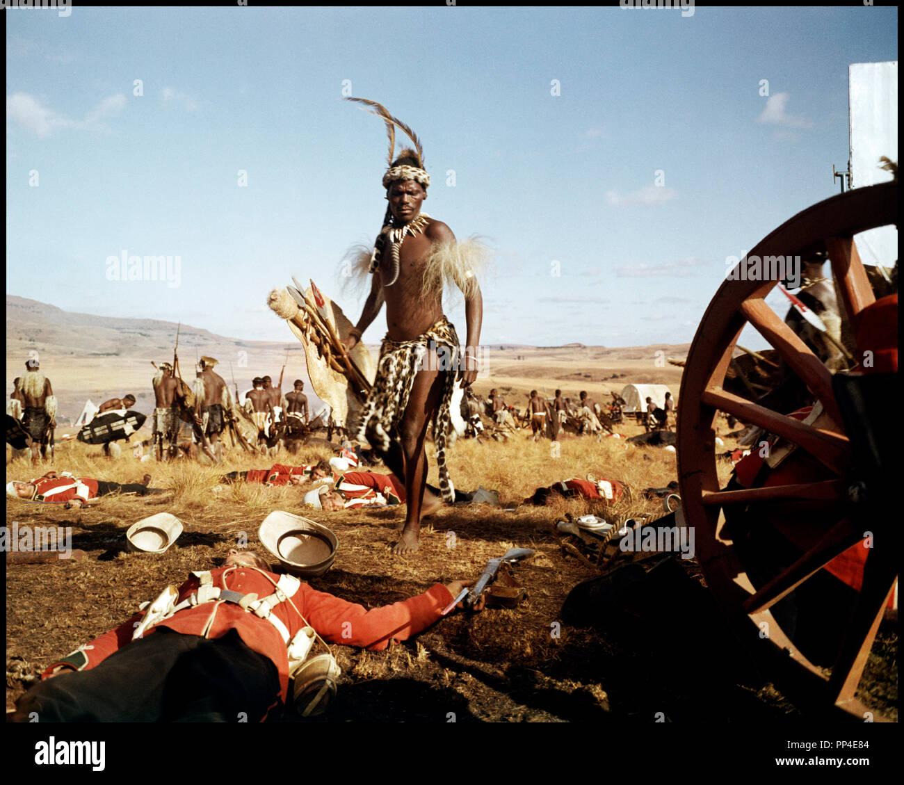 Prod DB © Diamond Films / DR ZOULOU (ZULU) de Cy Endfield 1964 Go britanique, bataille, afrique, guerre, champ de bataille Photo Stock
