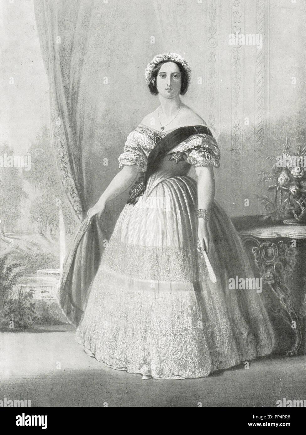 La reine Victoria en 1843 Photo Stock