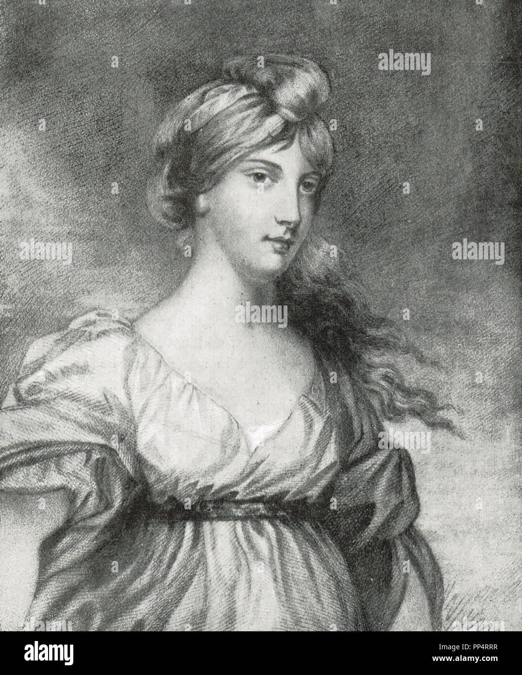 Lady Charlotte Susan Maria Bury (nee Campbell) romancier anglais, qui est surtout connu dans le cadre d'un journal d'illustration de l'époque de George IV Photo Stock