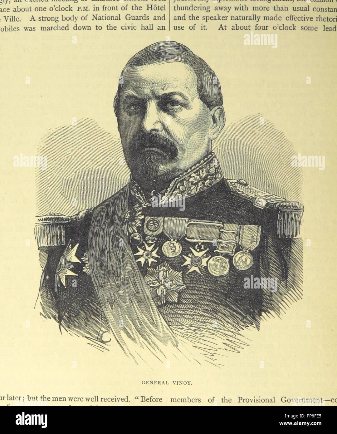 Libre à partir de la page 396 de '[Cassell's Illustrated Histoire de la guerre entre la France et l'Allemagne, 1870-1871.]' . Banque D'Images