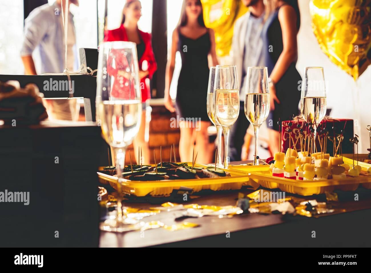 Dîner buffet de nourriture à manger Celebration Party Concept. Photo Stock