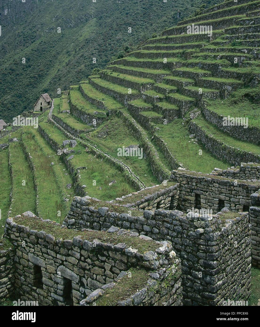 Arte Precolombino Inca Le Pérou Machu Picchu Vista Del