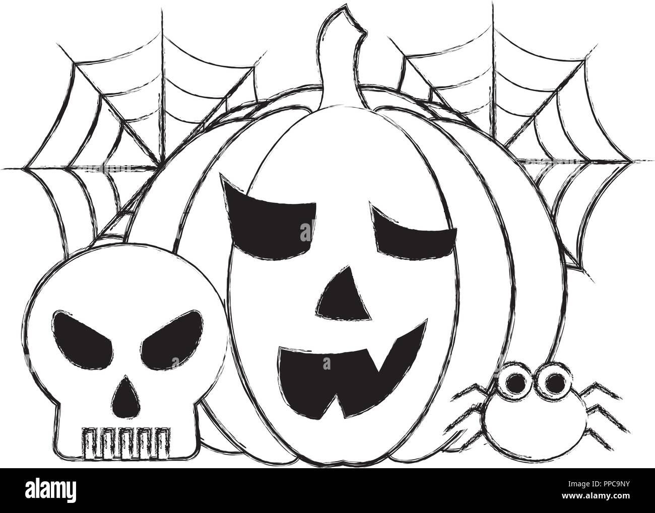 Chaudron De Sorcière Et Son Chapeau Halloween Bd