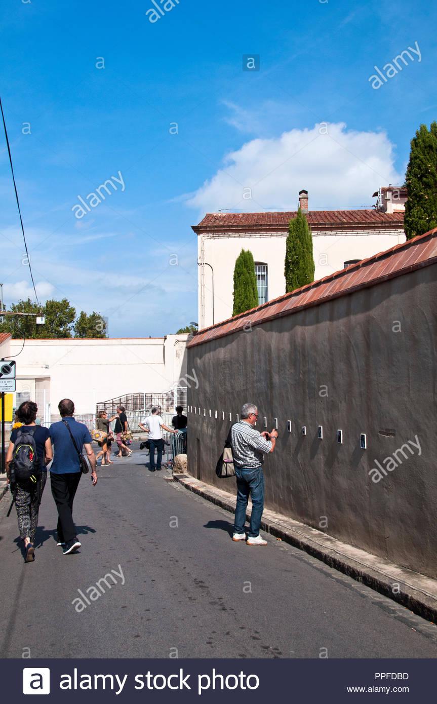 Visa pour l'image, Festival du photojournalisme à Perpignan, dans le sud de la France Photo Stock