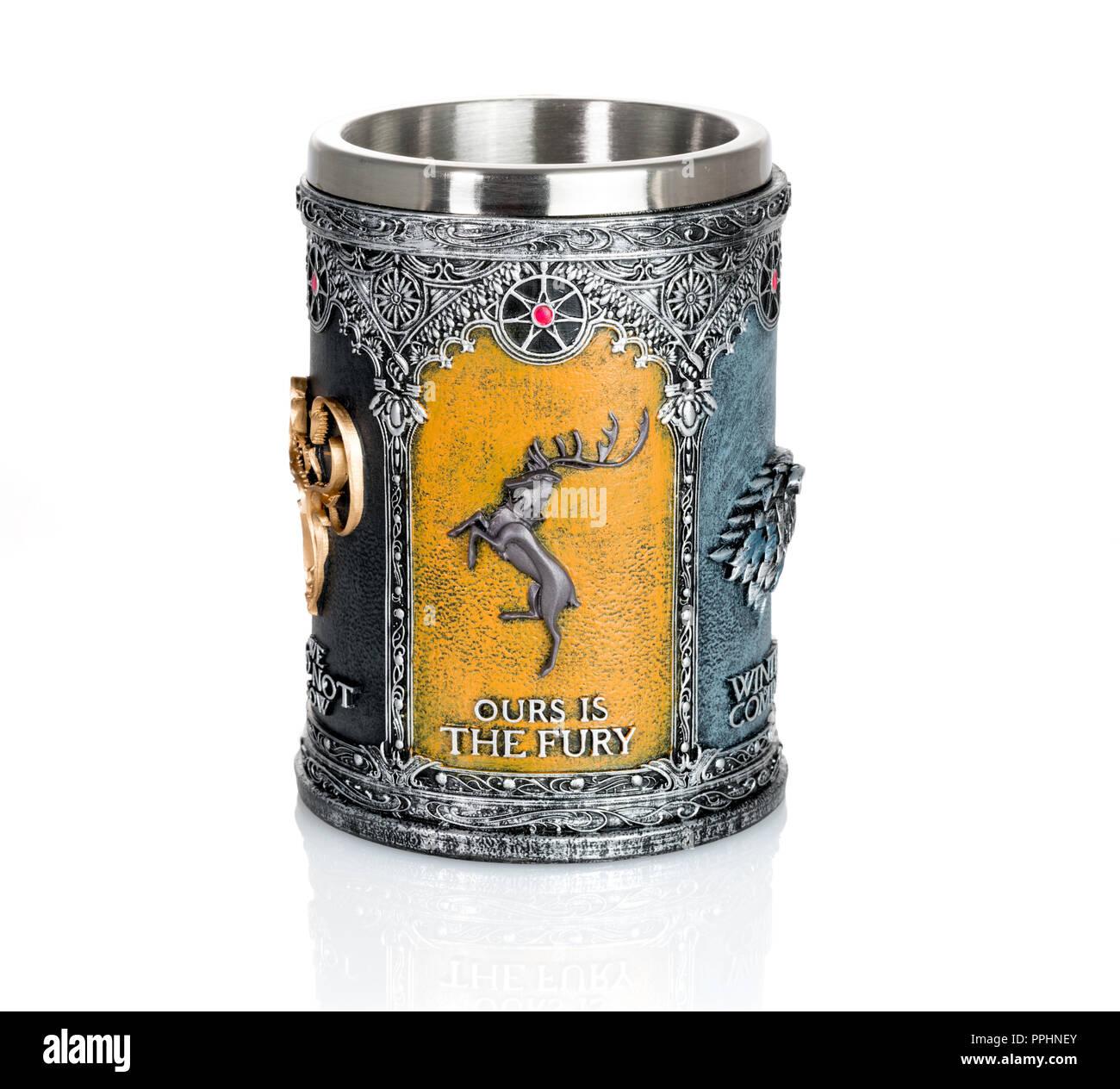 Tankard est autorisé à partir de la série Game of Thrones Photo Stock