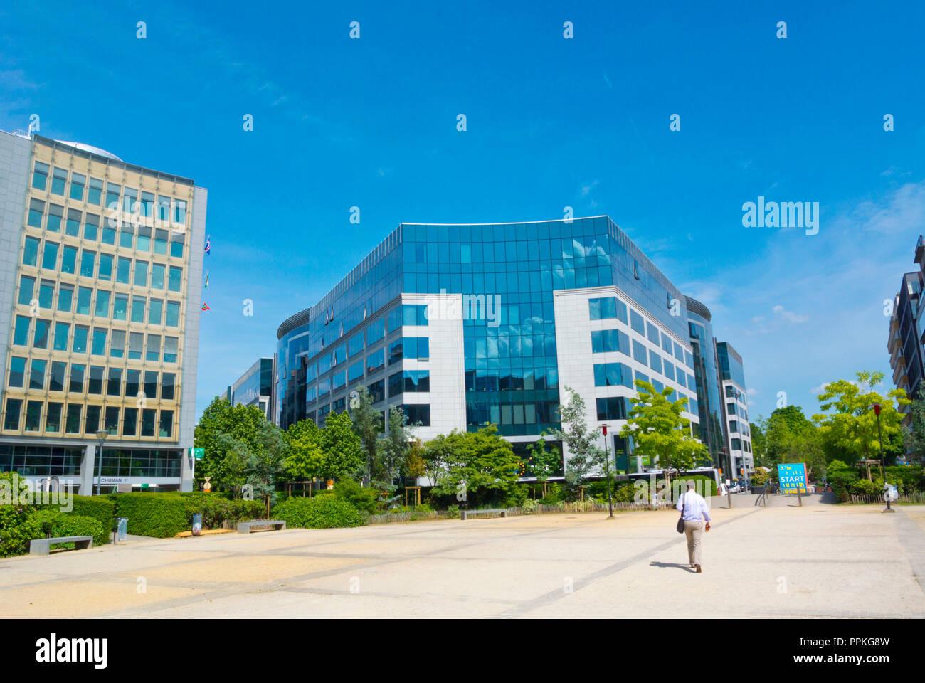 Rond-point Robert Schuman, Quartier Européen, Bruxelles, Belgique Photo Stock