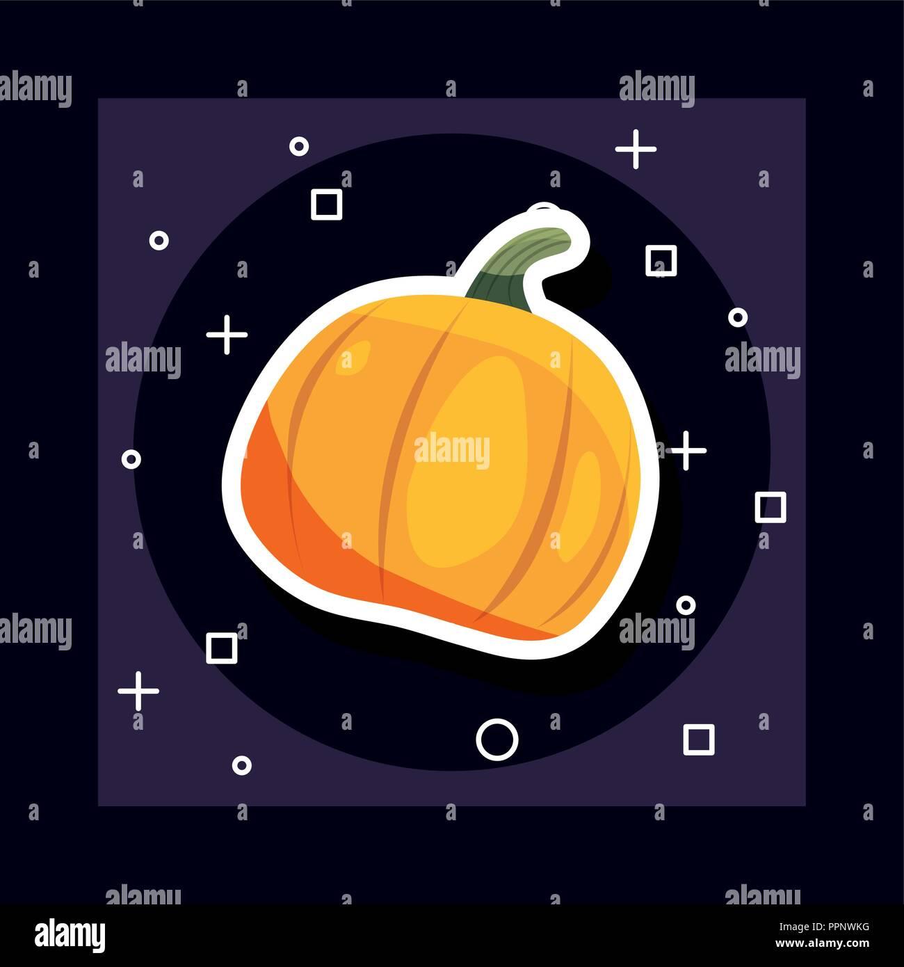 La journée de célébration de l'halloween symboles citrouille background vector illustration Illustration de Vecteur