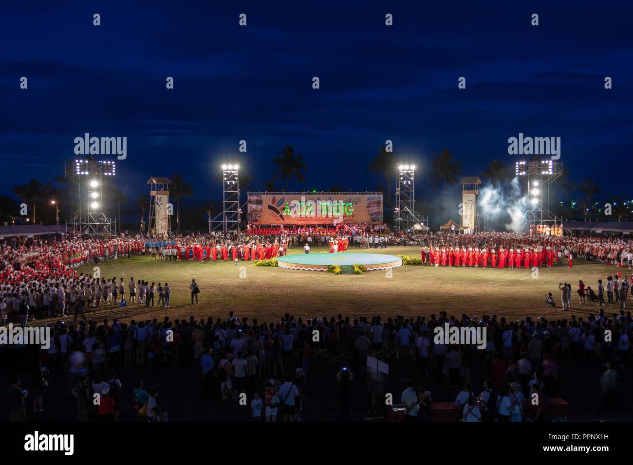 2009 'UN DA WANG' les cultures indigènes Festival (Festival de la récolte des Autochtones) dans la ville de Hualien, Taiwan Hualien County, Banque D'Images