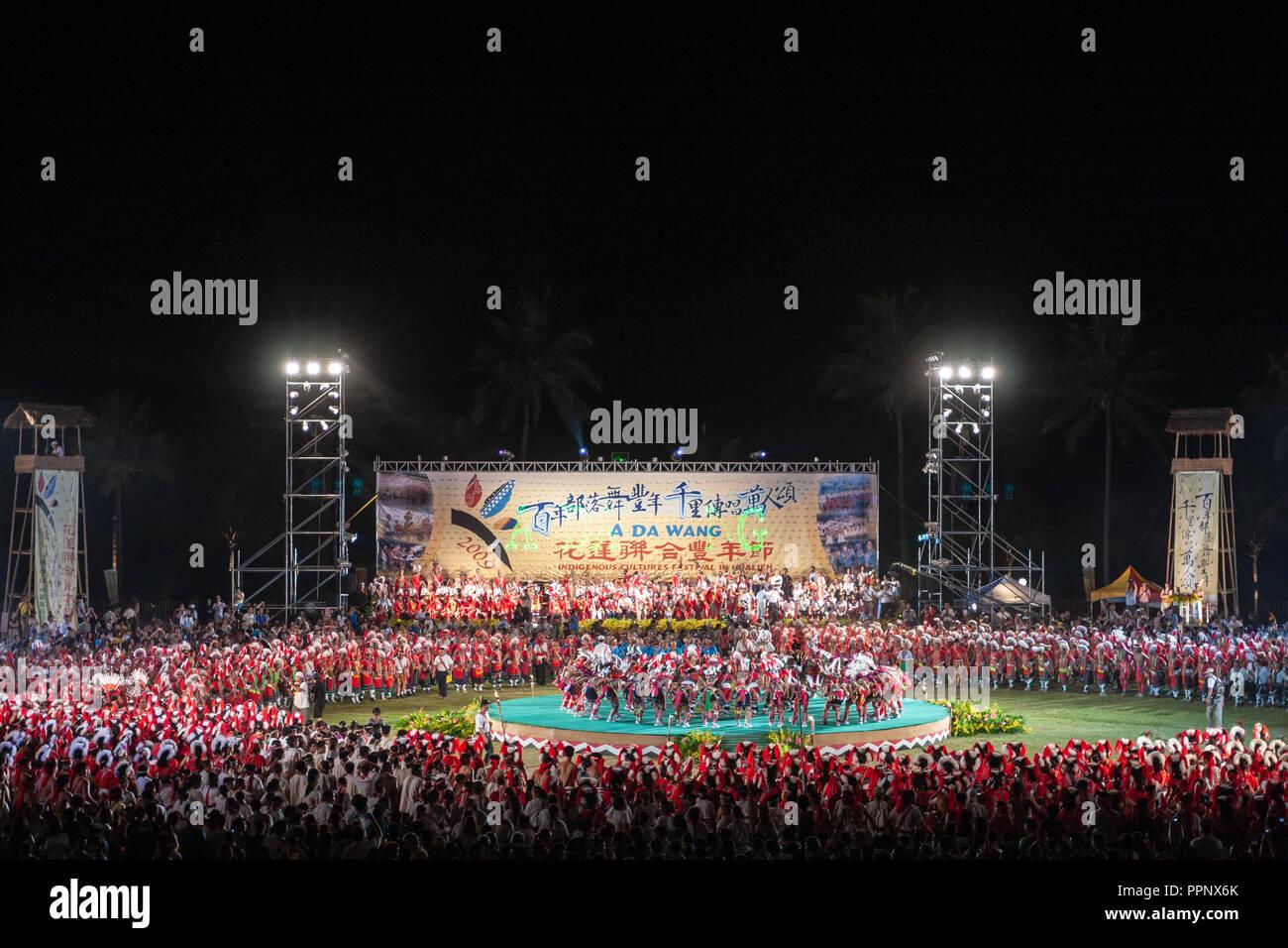 2009 'UN DA WANG' les cultures indigènes Festival (Festival de la récolte des Autochtones) dans la ville de Hualien, Taiwan Hualien County, Photo Stock