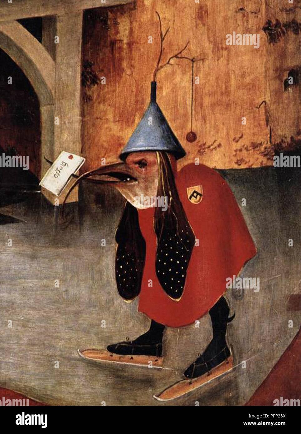 Bosch - Tentation de Saint Antoine (détail). Photo Stock