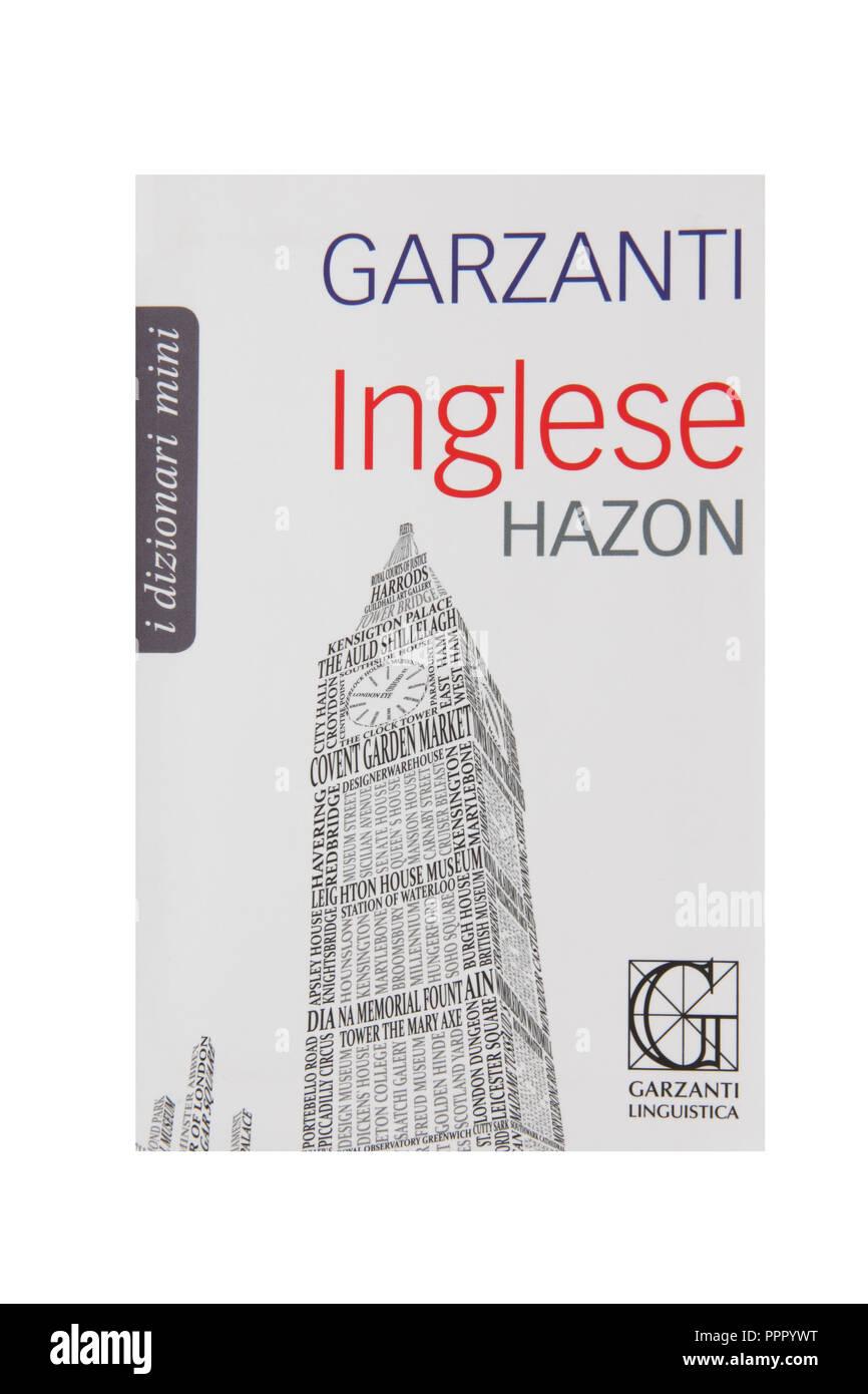 Un dictionnaire de poche Anglais Italien Photo Stock