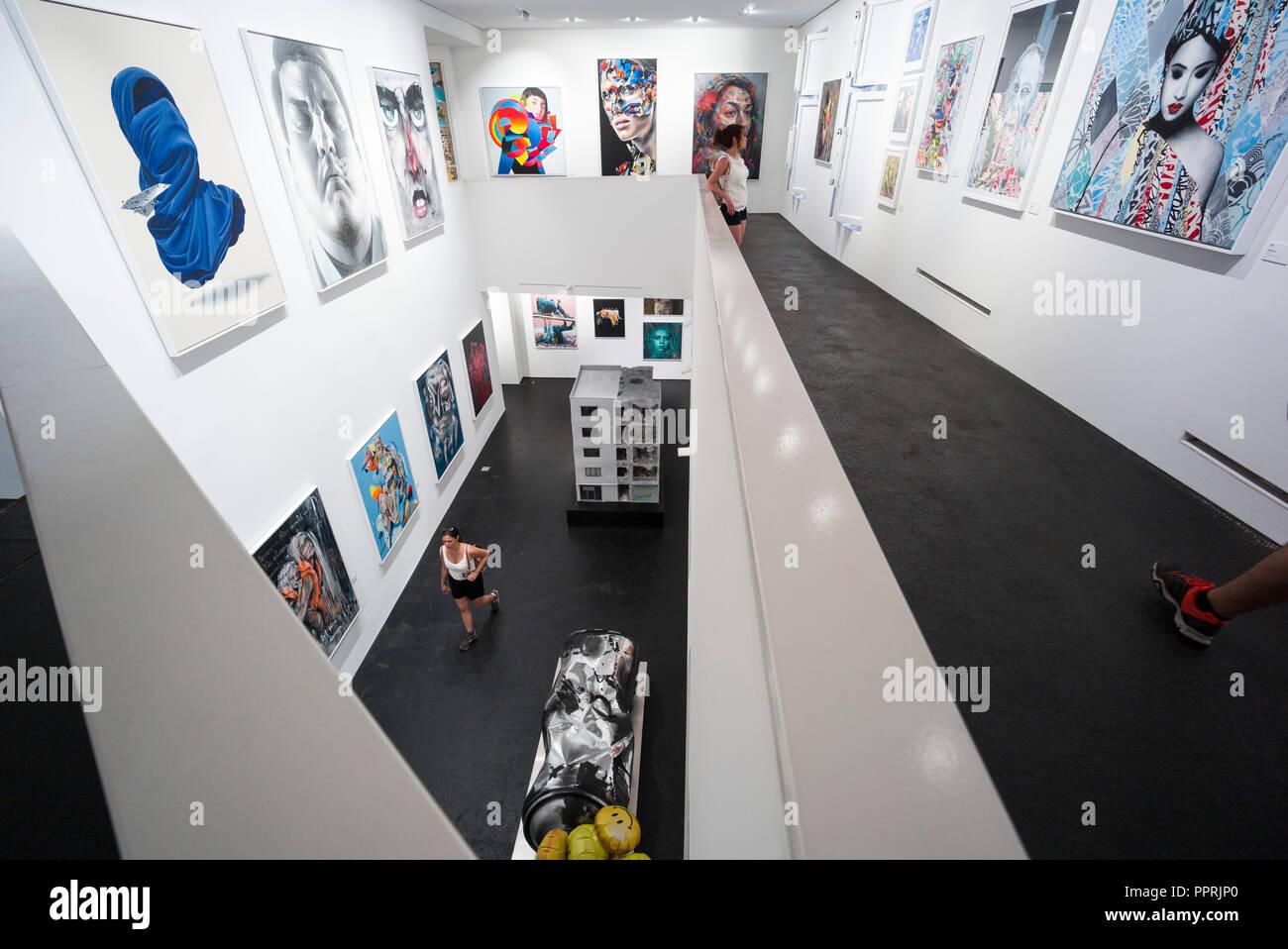 Berlin. L'Allemagne. Musée de la nation urbaine pour l'art contemporain, urbain, 7 Bülowstraße Schöneberg. Photo Stock
