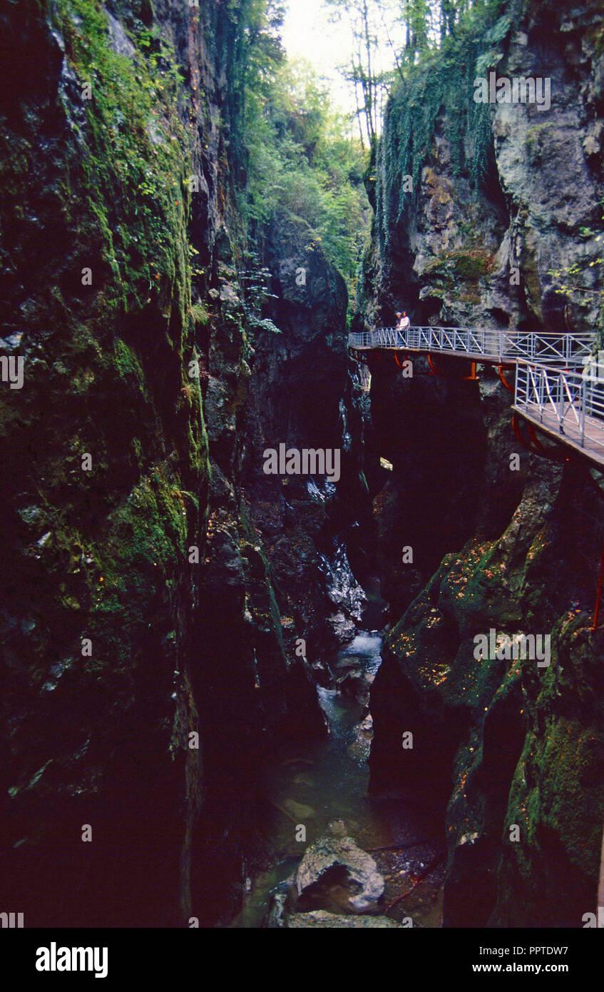 Les Gorges du Fier, Annecy, France Photo Stock