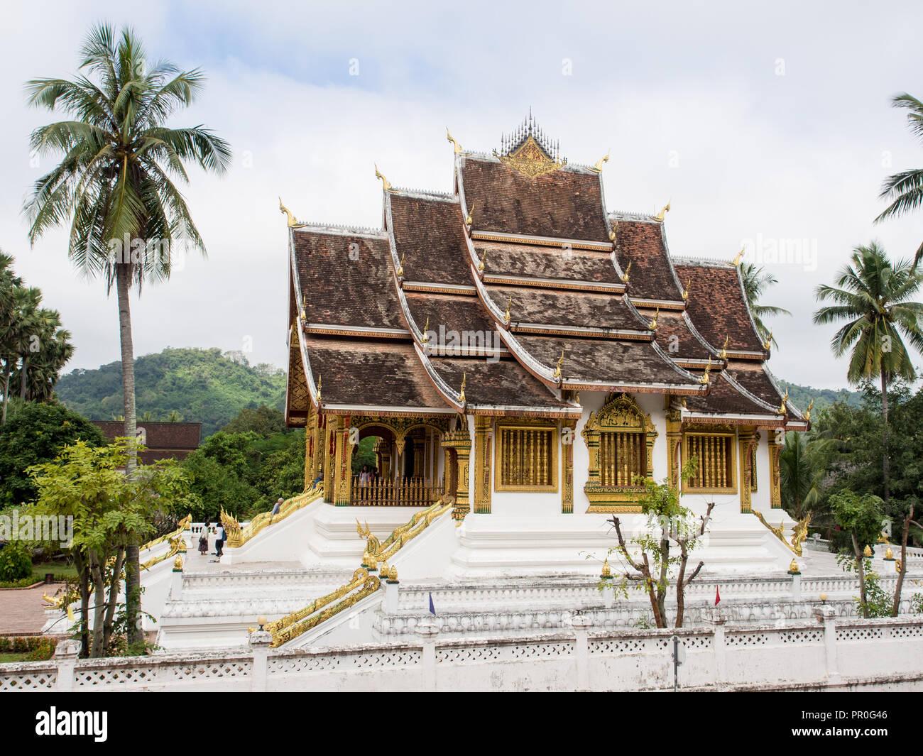 Haw Pha Bang temple, partie du complexe du Musée National, Luang Prabang, Laos, Indochine, Asie du Sud, Asie Photo Stock