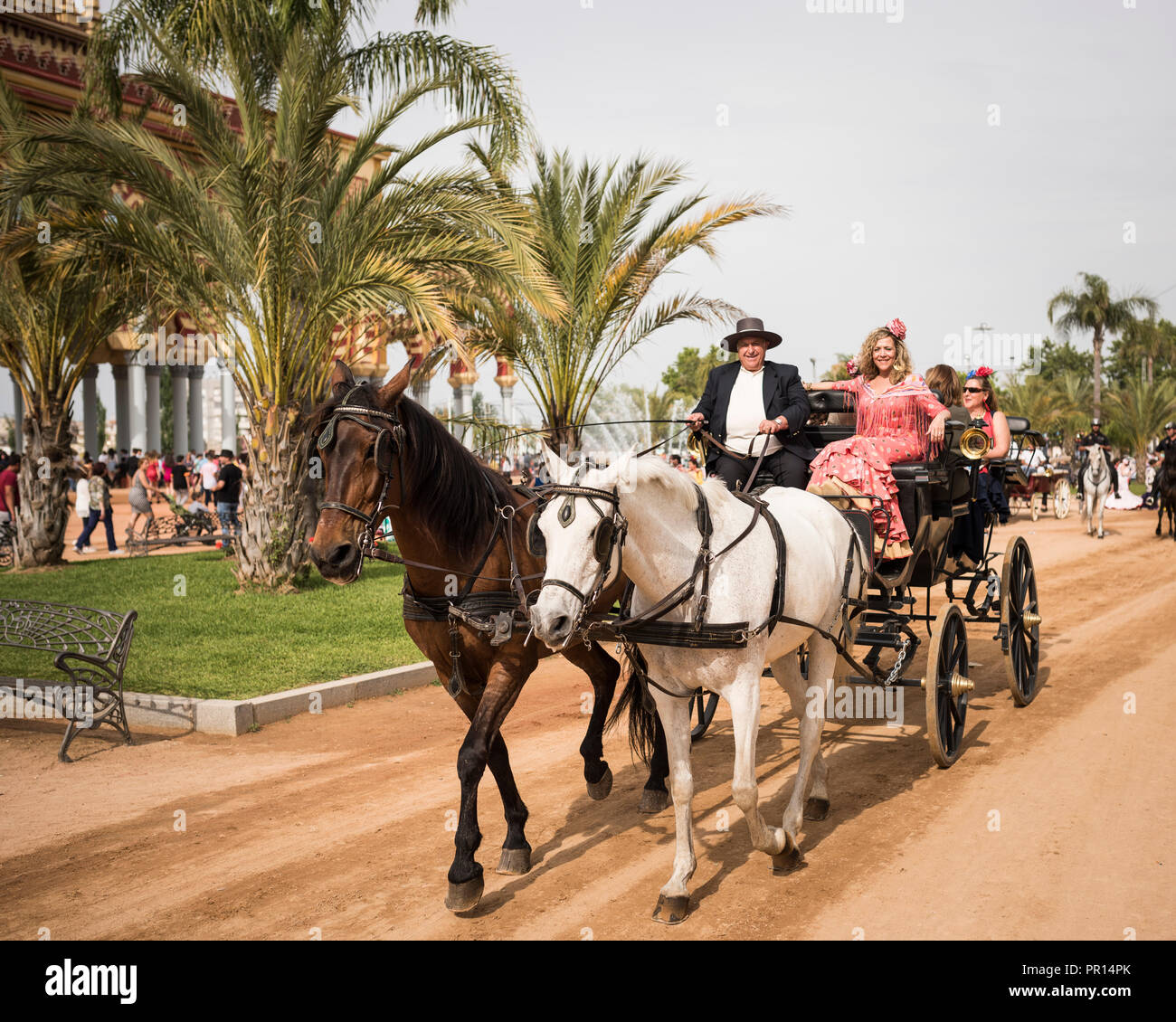 Feira de Cordoba, Cordoue, Andalousie, Espagne, Europe Photo Stock
