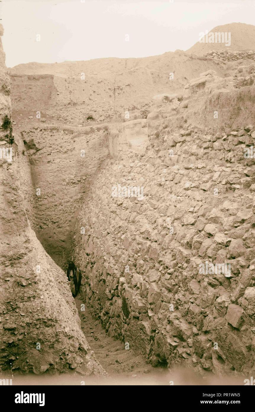 Route De Jéricho Er Riha Reste De Mur De La Ville D Ancientjericho 1898 Cisjordanie Jericho Photo Stock Alamy